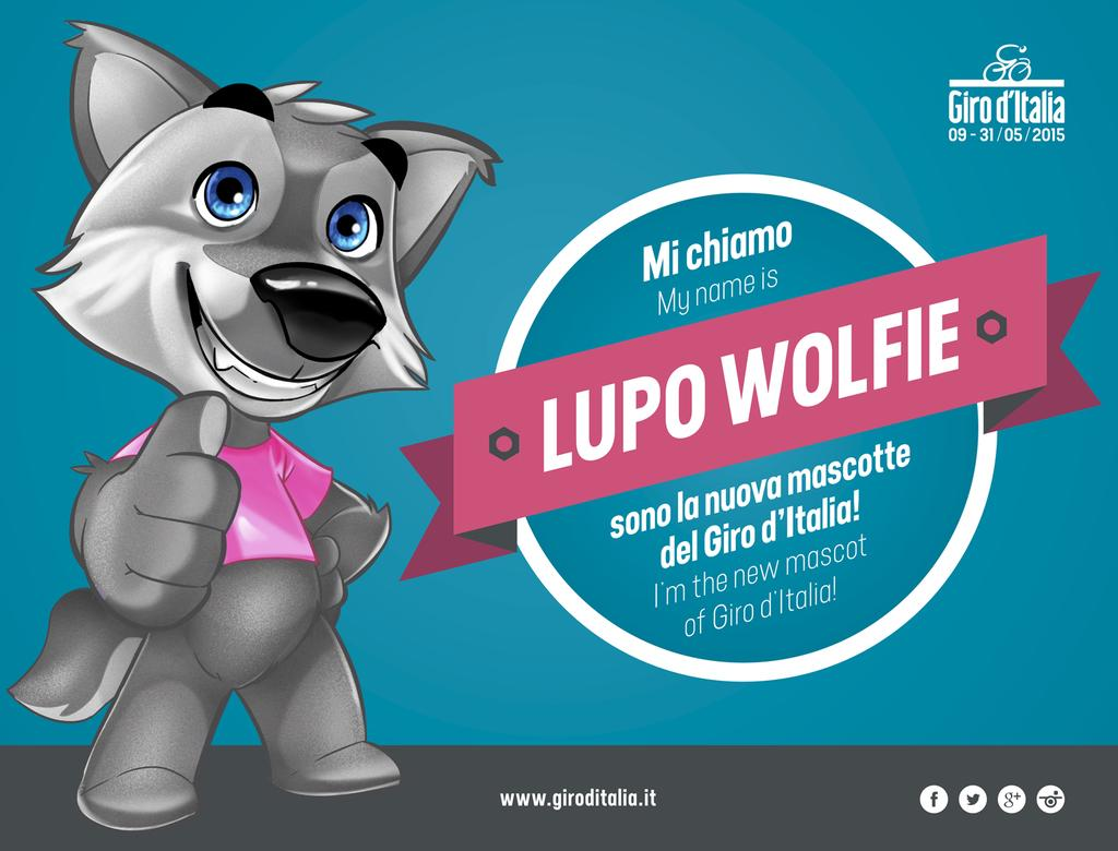 Lupo Wolfie, the new Giro Mascot
