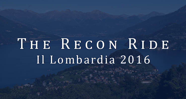 The Recon Ride Il Lombardia 2016