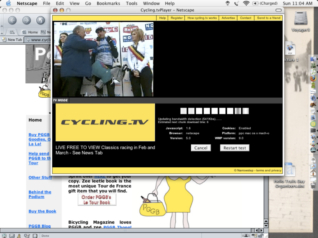 Cycling.TV KBK Screenshot